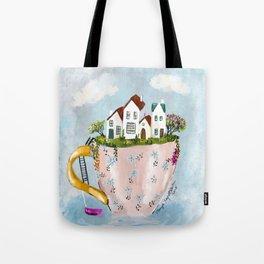 Pink Cup island Tote Bag