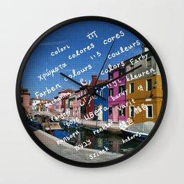 Burano 2 Wall Clock