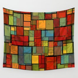 Stained Glass Geometric Pattern Wall Tapestry