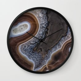 """Agate crystal texture #2 """"more detail"""" Wall Clock"""