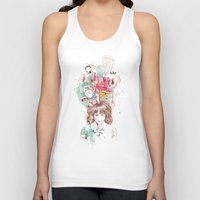 ariana grande Tank Tops featuring Thinking by Ariana Perez