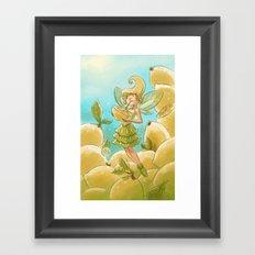 Goblins Drool, Fairies Rule - Lemon Loop Framed Art Print