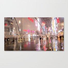 City rain Canvas Print