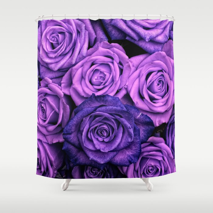 Purple Roses Shower Curtain by serigraphonart   Society6