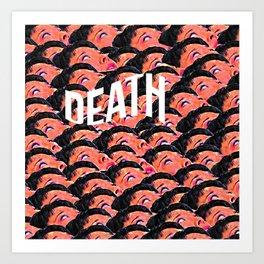 Death Aesthetic Pattern Art Print