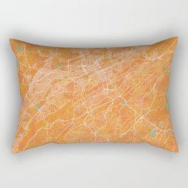 Birmingham, AL, USA, Gold, Blue, City, Map Rectangular Pillow