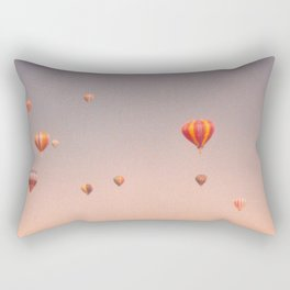 vintage hot air balloons in rio Rectangular Pillow