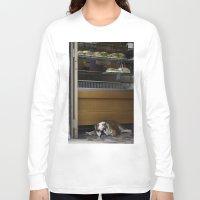 english bulldog Long Sleeve T-shirts featuring English Bulldog by sovichka