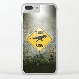T-Rex Crossing Clear iPhone Case