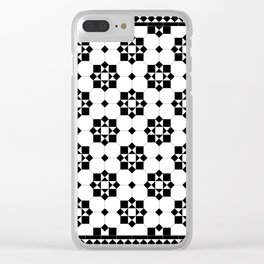 Victorian Floor Tile Pattern 3 Clear iPhone Case
