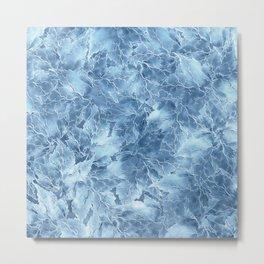 Frozen Leaves 8 Metal Print