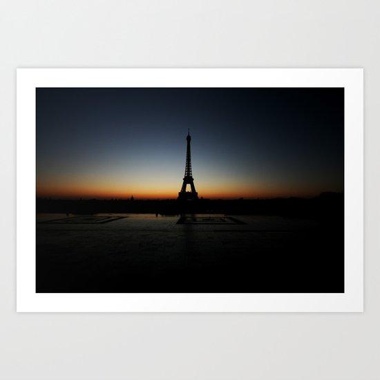 eiffel tower, sunrise Art Print