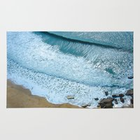 waves Area & Throw Rugs featuring Waves by Sébastien BOUVIER