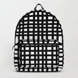 Black and White Gingham Backpack