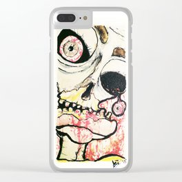 Zombie look Clear iPhone Case