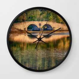 Aray Bridge - Inveraray, Scotland Wall Clock