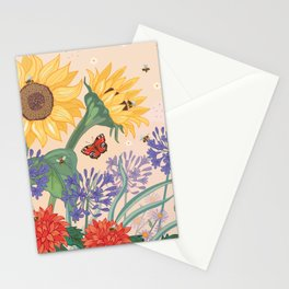 Sunflower Bees Stationery Cards
