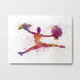 young woman cheerleader Metal Print