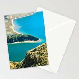 Lake in Azores islands Stationery Cards