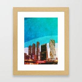 Moscow city skyline Framed Art Print