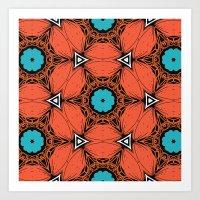 Geometric Flowet Art Print