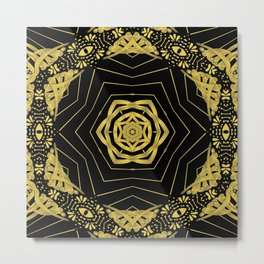everything • is • golden ∆ Metal Print