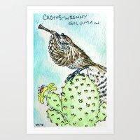 Cactus Wrenny Goldman Art Print