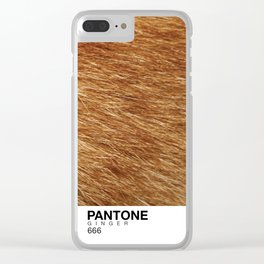 Pantone Ginger Clear iPhone Case