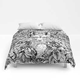 hidden fox Comforters