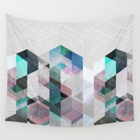 nordic Wall Tapestries featuring Nordic Combination 23 by Mareike Böhmer