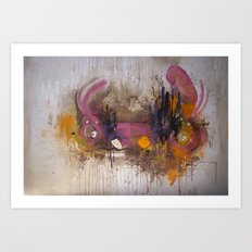 Pinkpurple Playstation Catrabbit - Gamepad Series Art Print