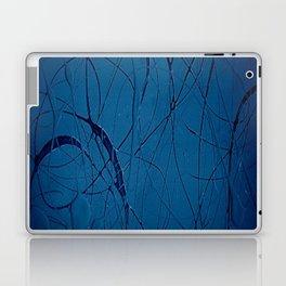 Navy Blue - Jackson Pollock Style - Modern Art Laptop & iPad Skin