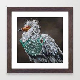Necrophagy: Egyptian Vulture Framed Art Print
