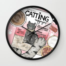 Monday Morning Essentials - featuring Catting Magazine, Spring 2018 Wall Clock