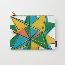 Abstract modern polygonal form Carry-All Pouch