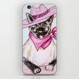 Ying Cowgirl Kitty in Pink iPhone Skin