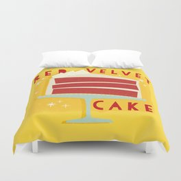 All American Classic Red Velvet Cake Duvet Cover