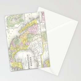 Vintage Map of Mexico (1850) Stationery Cards