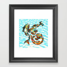 Three Koi Carp Framed Art Print