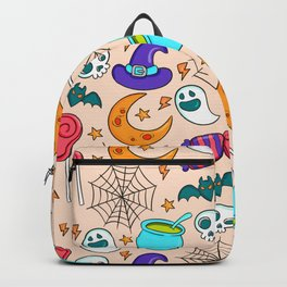 Creepy Halloween Witch's Brew Backpack