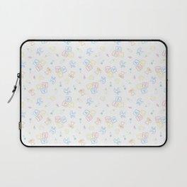 Baby Symbols Sketch - White Cloud Laptop Sleeve