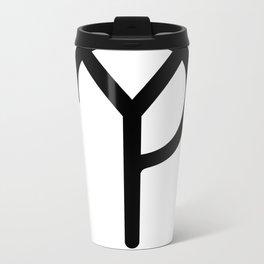 "The Why? Movement's Y? (""Why?"") Symbol Metal Travel Mug"
