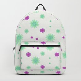 Stars Motif Multicolored Pattern Backpack