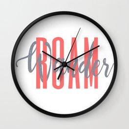 Roam On Wall Clock