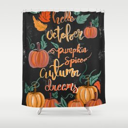 Hello October Shower Curtain