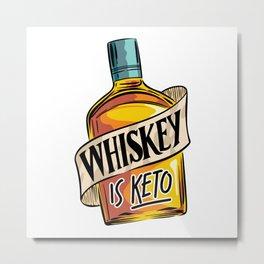 Whiskey Is Keto Ketosis Diet Low Carb Lifestyle Metal Print