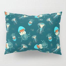 Flow jellyfishes Pillow Sham
