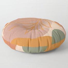 Mid Century Modern - burnt oranges 01 Floor Pillow