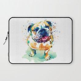 Watercolor Bulldog Laptop Sleeve