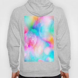 Abstract artistic pink teal watercolor paint bokech  Hoody